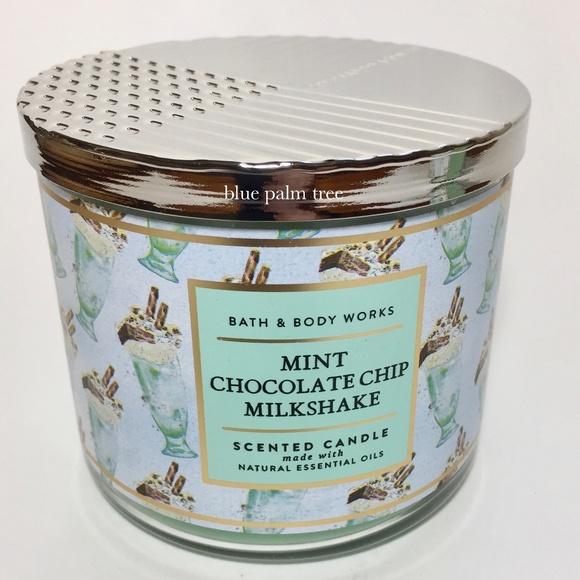 MINT CHOCOLATE CHIP MILKSHAKE 3 Wick Candle
